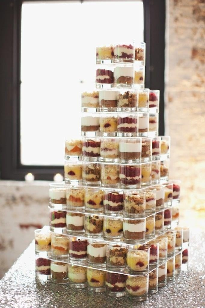 parfait wedding cake alternative