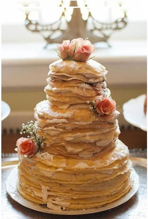 crepe cake wedding cake alternative