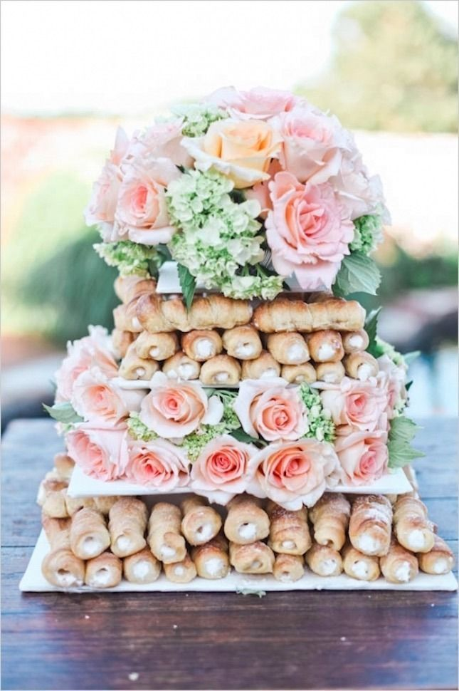 cannoli wedding cake alternative