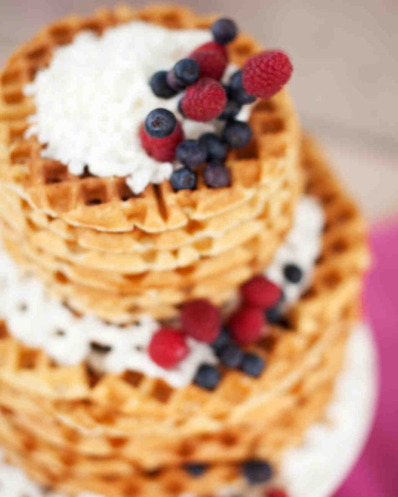 waffle wedding cake alternative
