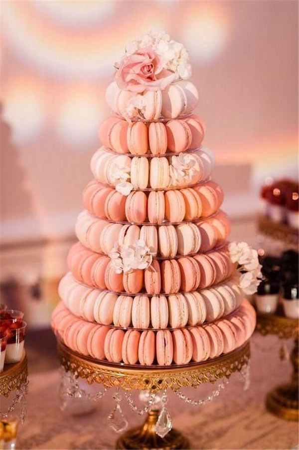 macaron wedding cake alternative