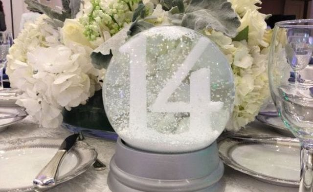 snow globe frosty centerpieces