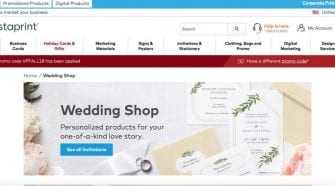 Vistaprint online stationery store
