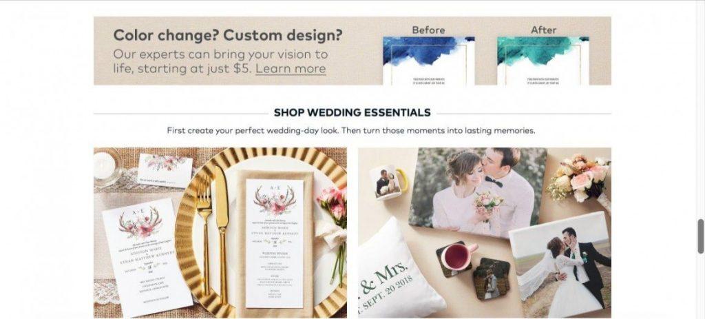 Vistaprint color designs and custom designs
