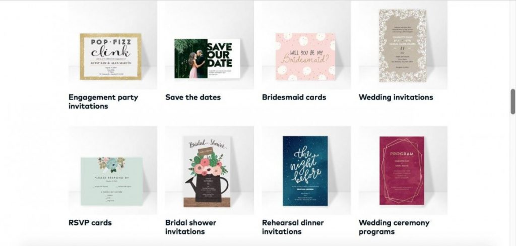 Vistaprint additional stationery choices