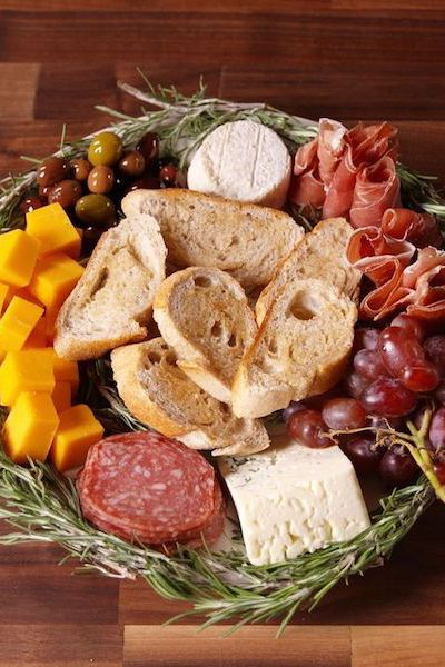 Antipasto Wreath from Delish