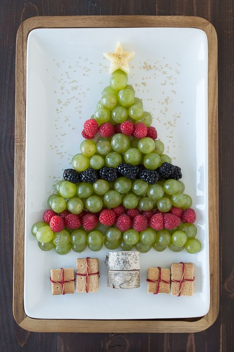 Christmas Tree Fruit Platter from The First Year