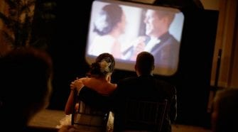 Wedding Slideshow at the reception made with online tools