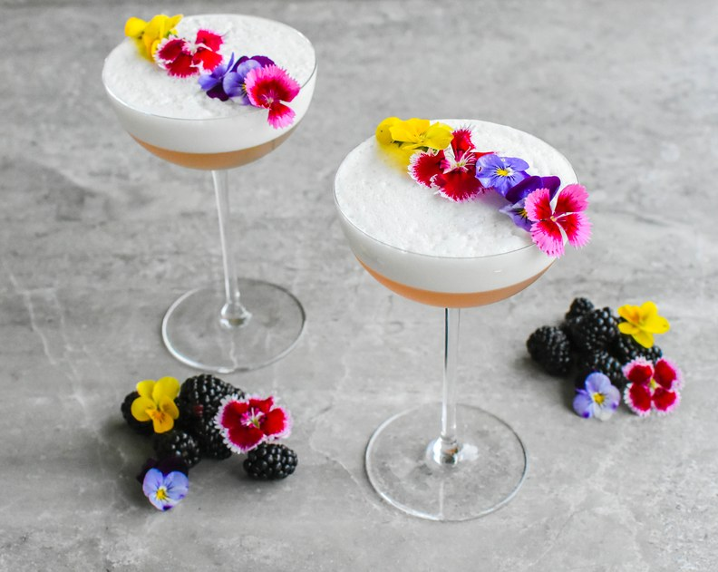 floral delight wedding cocktail beautiful booze