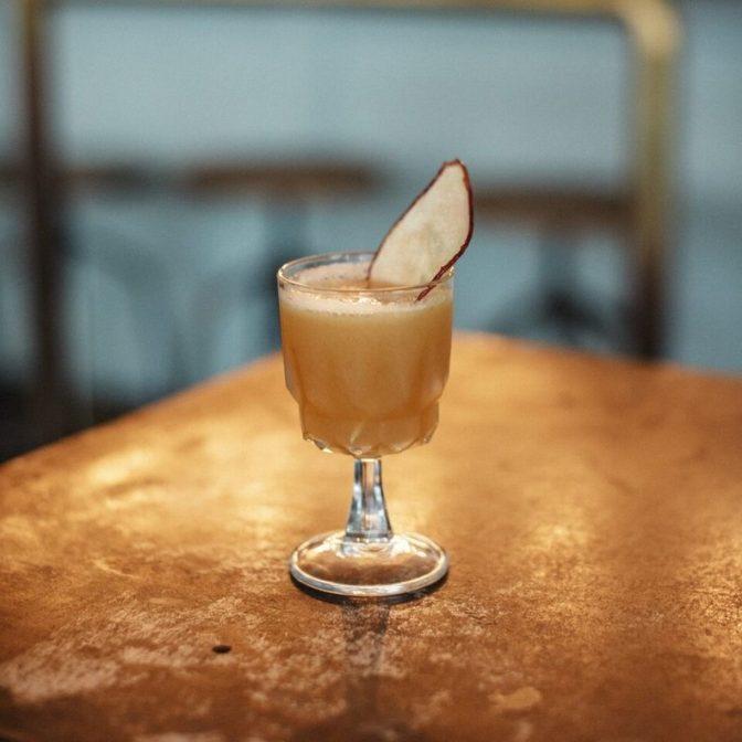 pear in spirit wedding cocktail