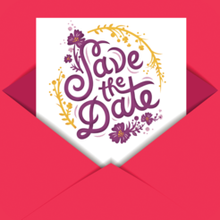Save The Date wedding invite maker app