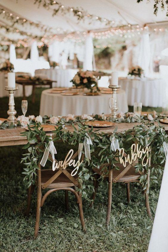 green wedding reception chair decor