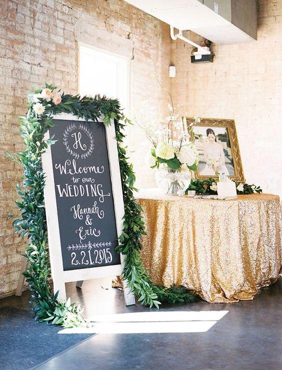 green wedding floral garland