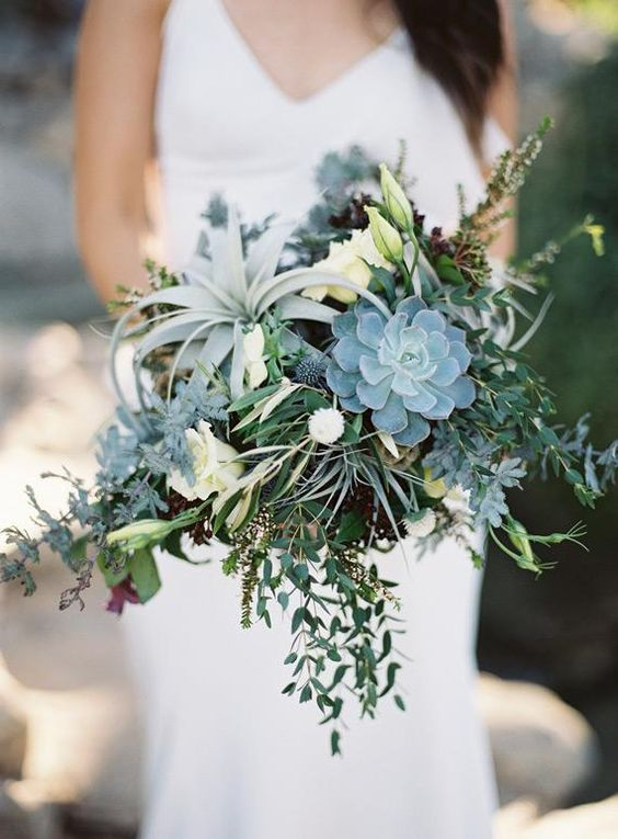 green lush flower bouquet