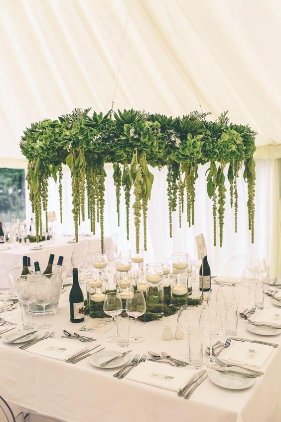 wedding green chandelier