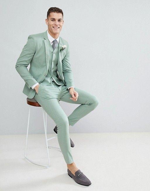 light green asos wedding tux