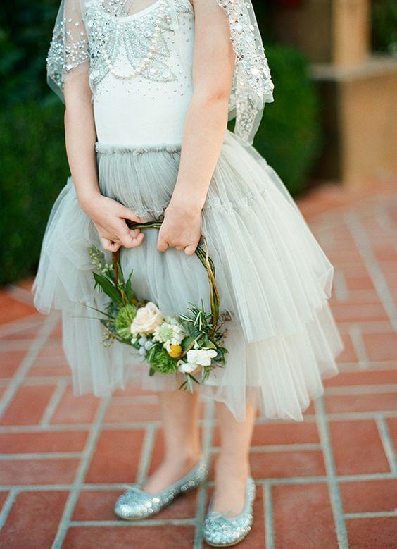 light green flower girl dress