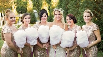 cotton candy wedding bouquets