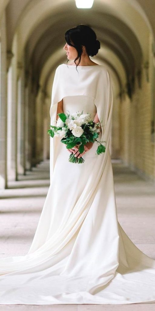 all white wedding bridal look