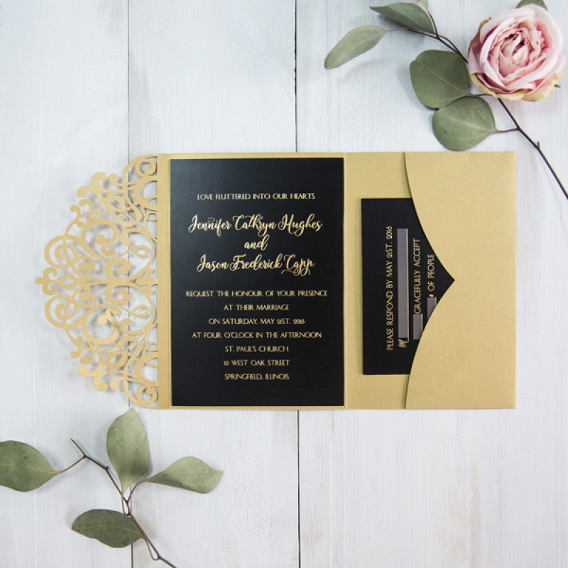 Black And Gold Wedding.Timeless Gorgeous Winter Wedding Color Combinations