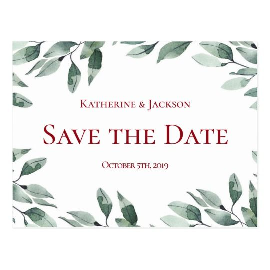 cranberry and sage wedding save the date