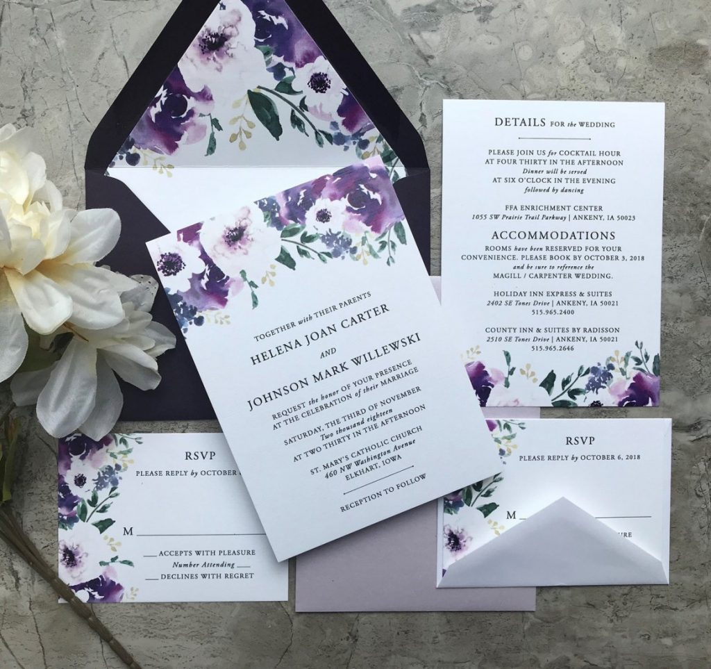 Purple Wedding Invitations: Inexpensive Wedding Invitations That Look Anything But