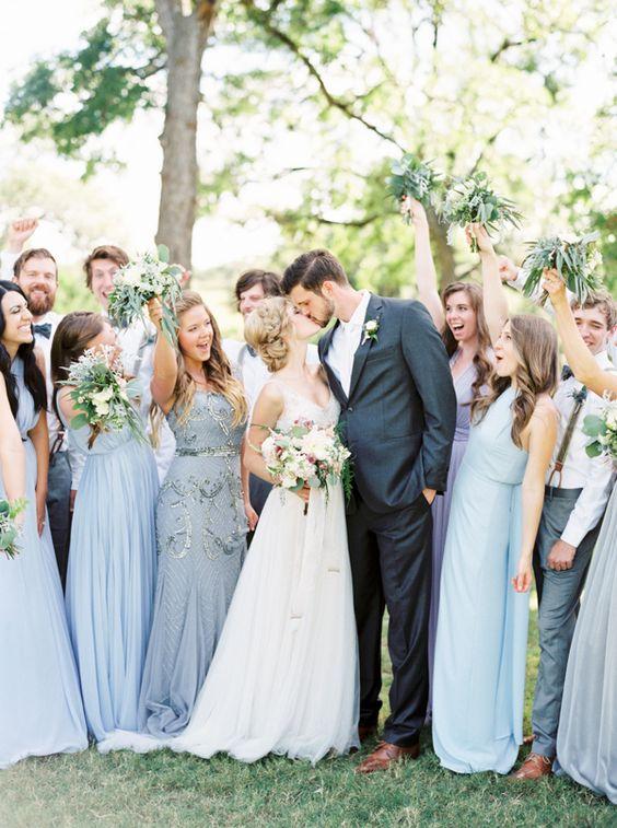 powder blue bridal party