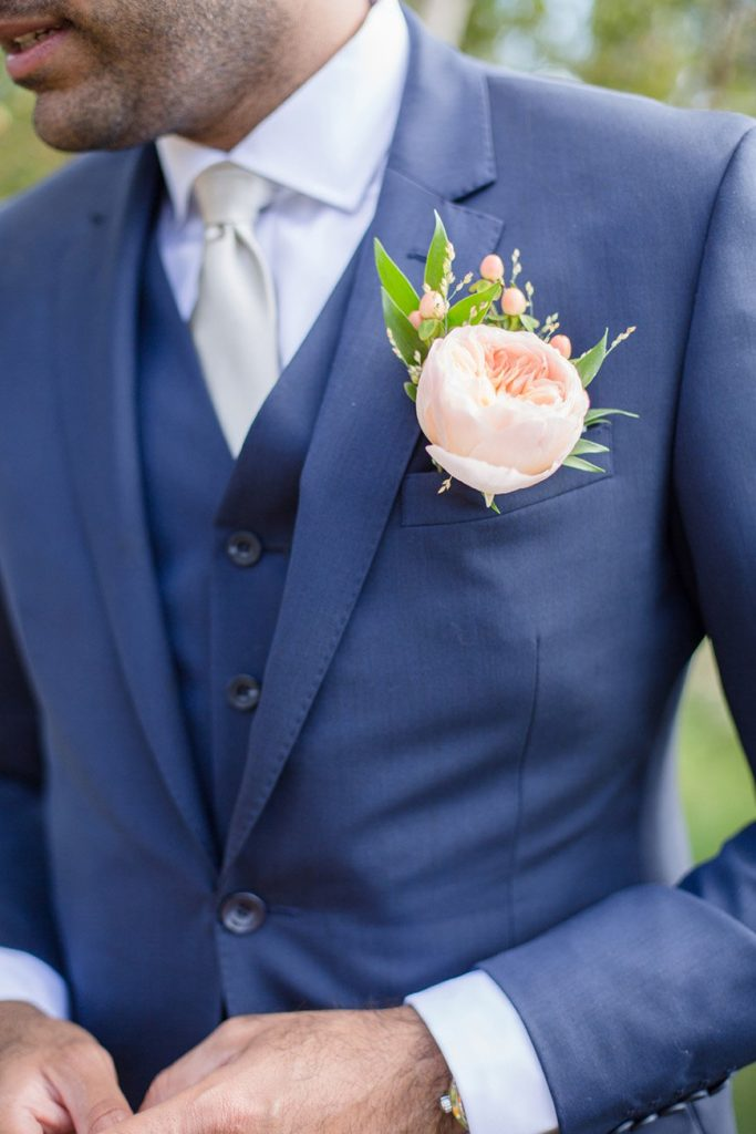 sapphire blush and silver groom