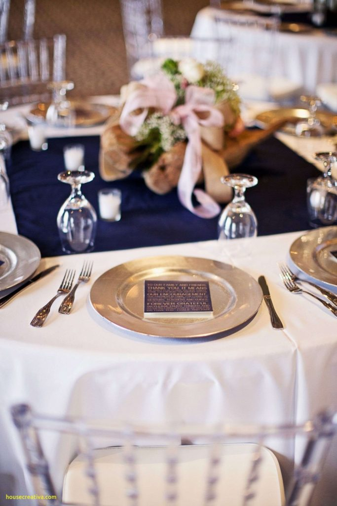 sapphire blue blush and silver wedding reception
