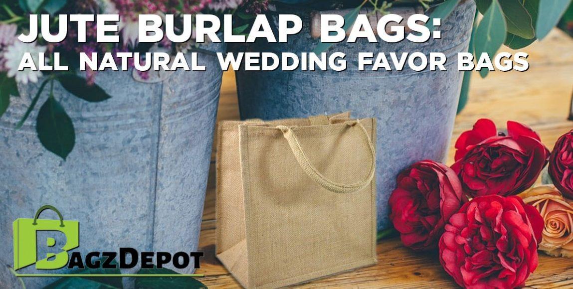 Jute Burlap Bags: All Natural Wedding Favor Bags