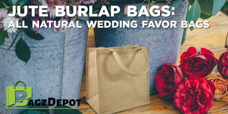 Jute Burlap Bags: All Natural Wedding Favor Bags