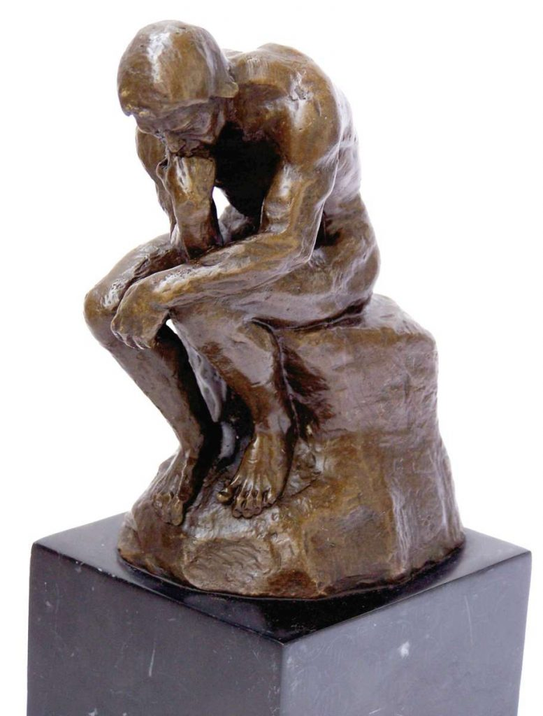 Kunst & Ambiente Art Bronze Sculpture - The Thinker