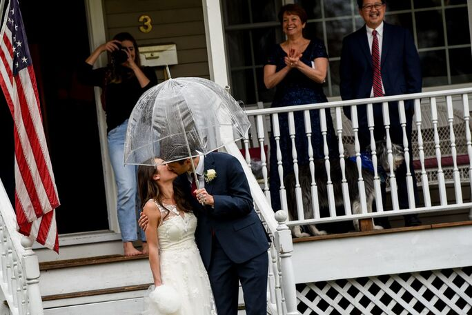 Married on the front porch