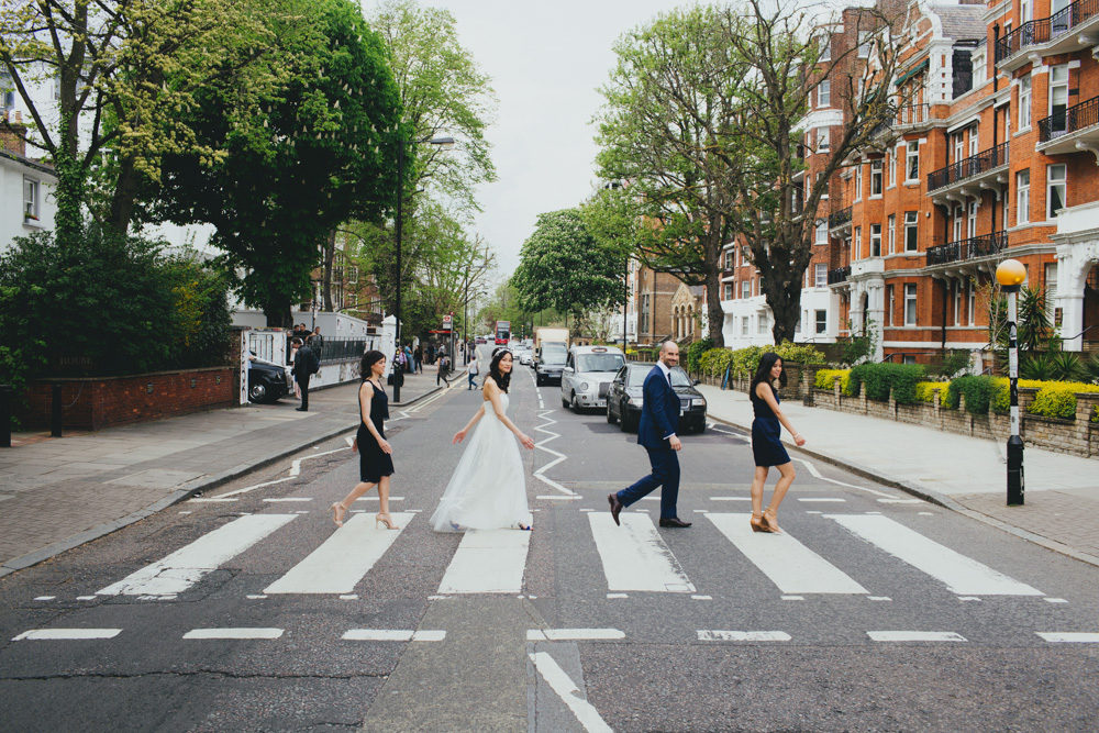 abbey road wedding photo