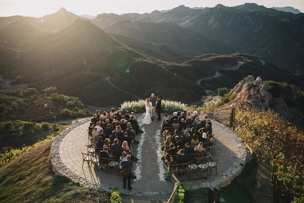 bird's eye view wedding photo