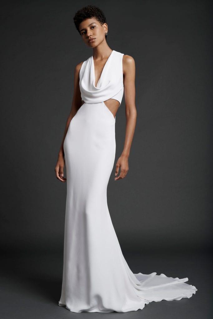 Sleeveless Cutouts Cushnie wedding gown