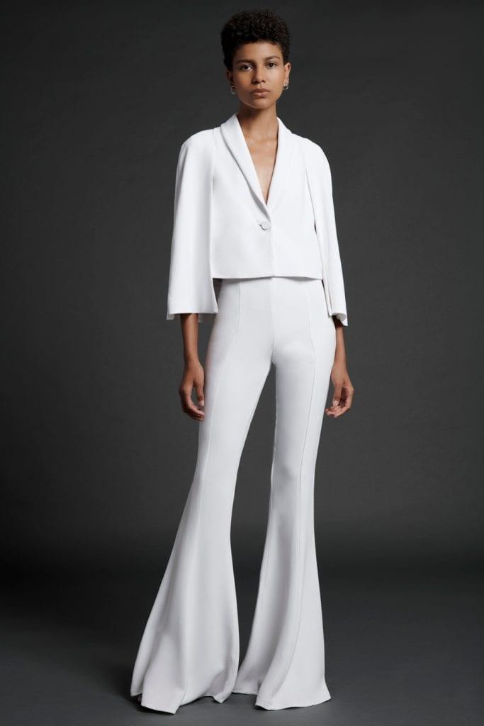 short jacket pant suit wedding suit cushnie