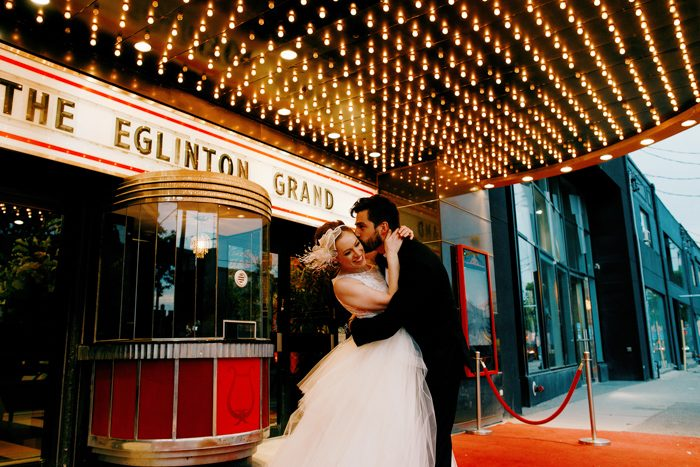 movie theatre wedding