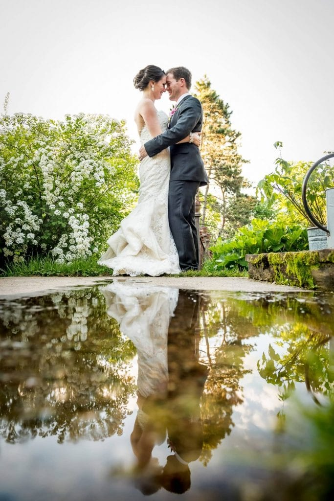 reflection wedding photo