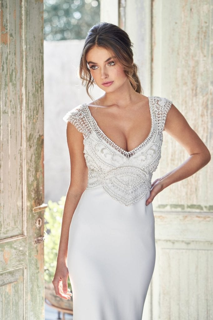 Sorrento crepe Anna campbell gown