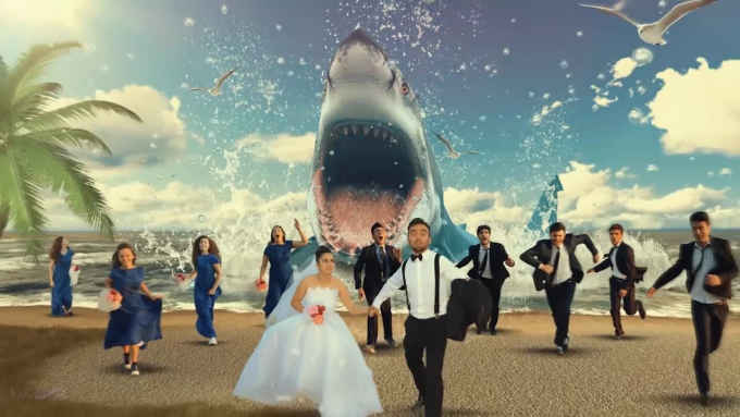 special effects wedding photos