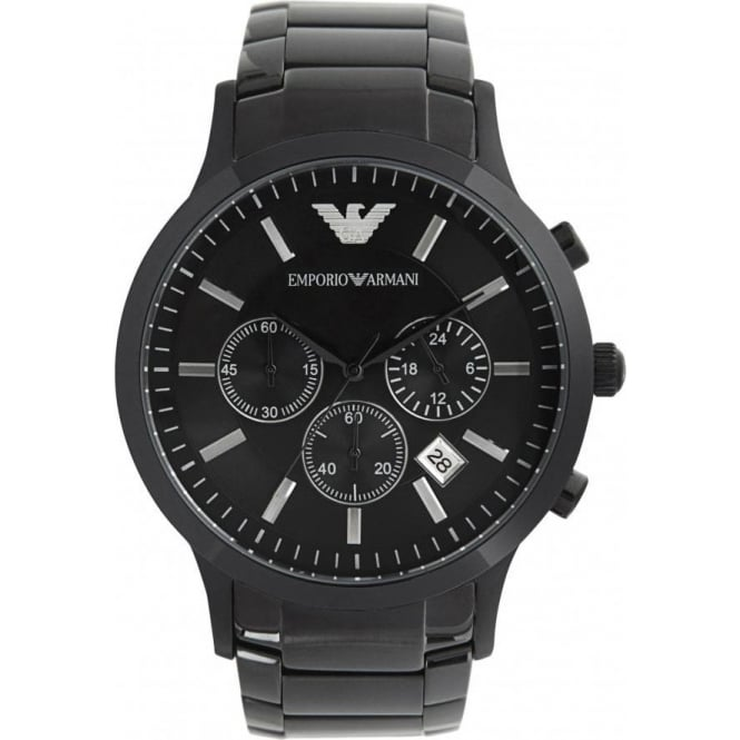 black Armani mens watch