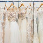 Various wedding dress design and fabrics