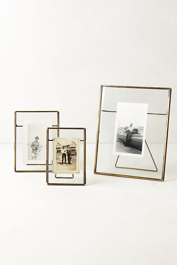 Pressed Glass Photo Frames from Anthropologie