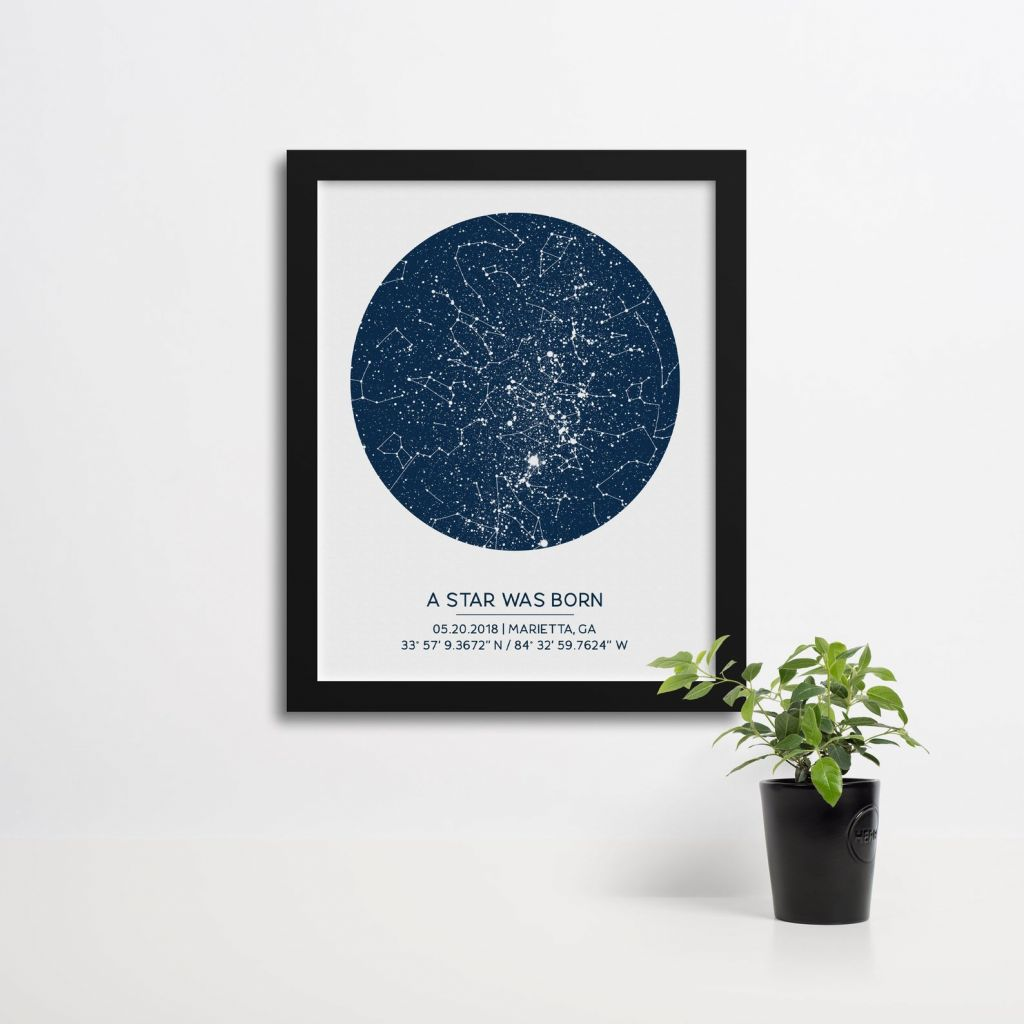 Custom Star Map from Finch & Cotter