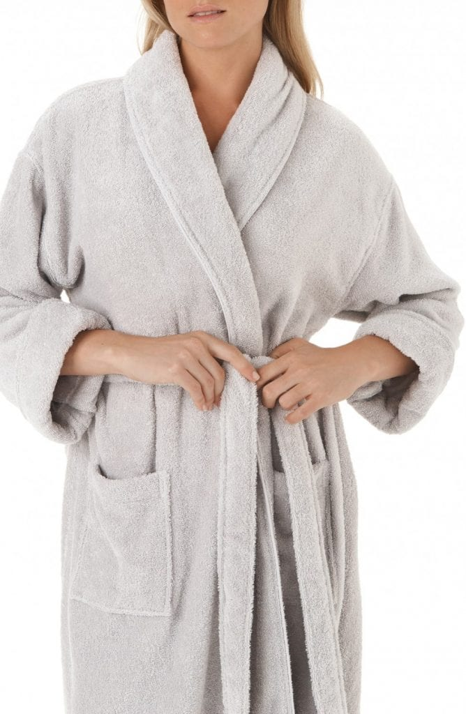 Women's matching cotton robe