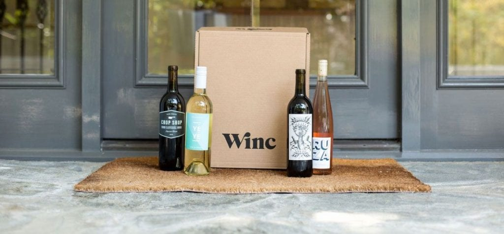 Winc Wine Club bottle display