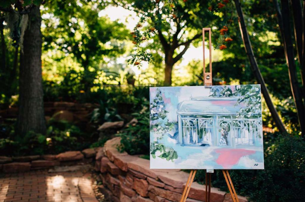 Live painting a wedding reception