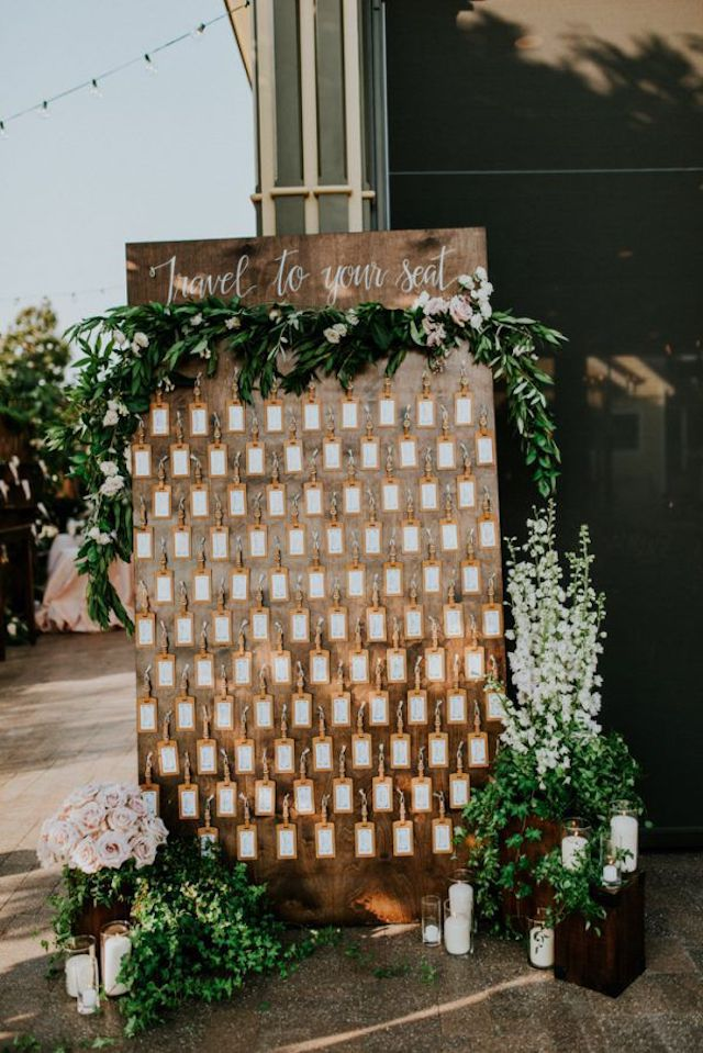 Luggage tag seating chart