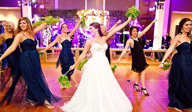 Surprise choreographed reception dance